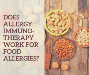 Immunotherapy for food allergies